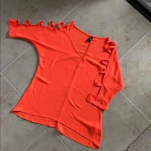 Windsor neon orange shirt